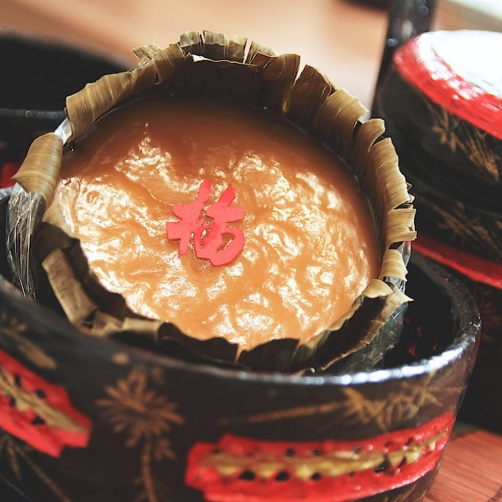 nian gao, glutinous rice cake made for Chinese New Year