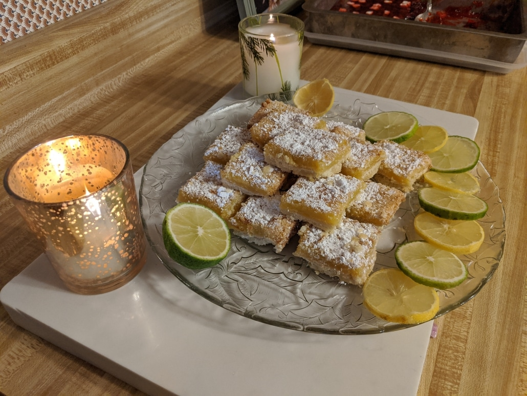 A picture of the finished lemon bars.