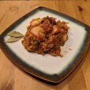 Finished crab and sausage jambalaya.