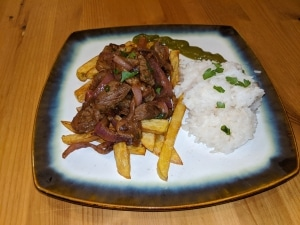 Finished lomo saltado