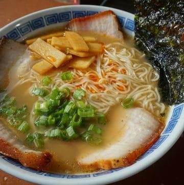 A bowl of Kurume ramen