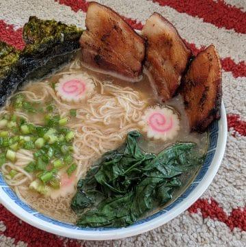 A bowl of Shirakawa style ramen
